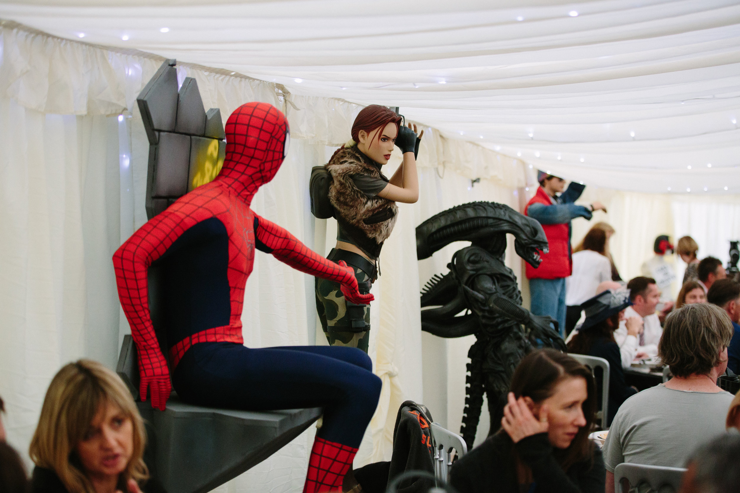 Hollwyood-characters-bride-essex-movie-theme-wedding-spider man-1