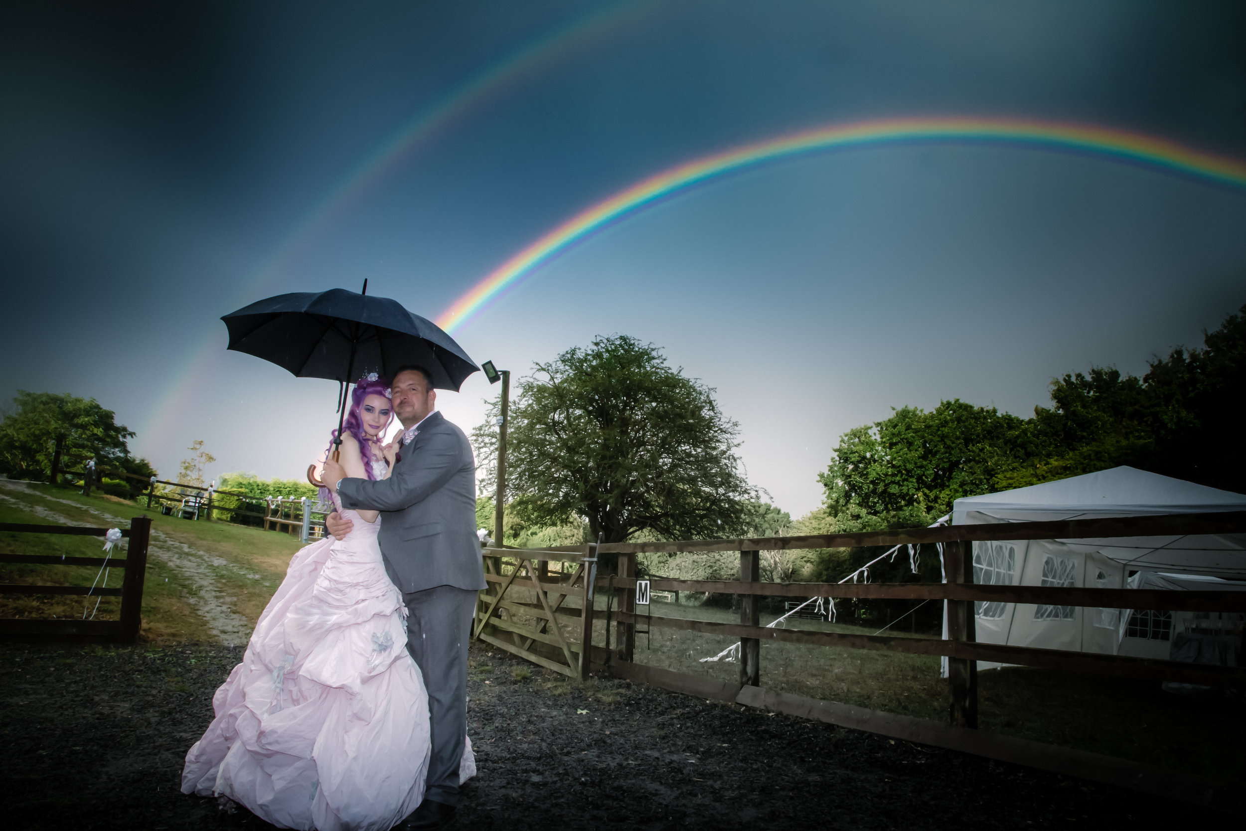 Hollwyood-characters-bride-essex-movie-theme-wedding-double-rainbow-30