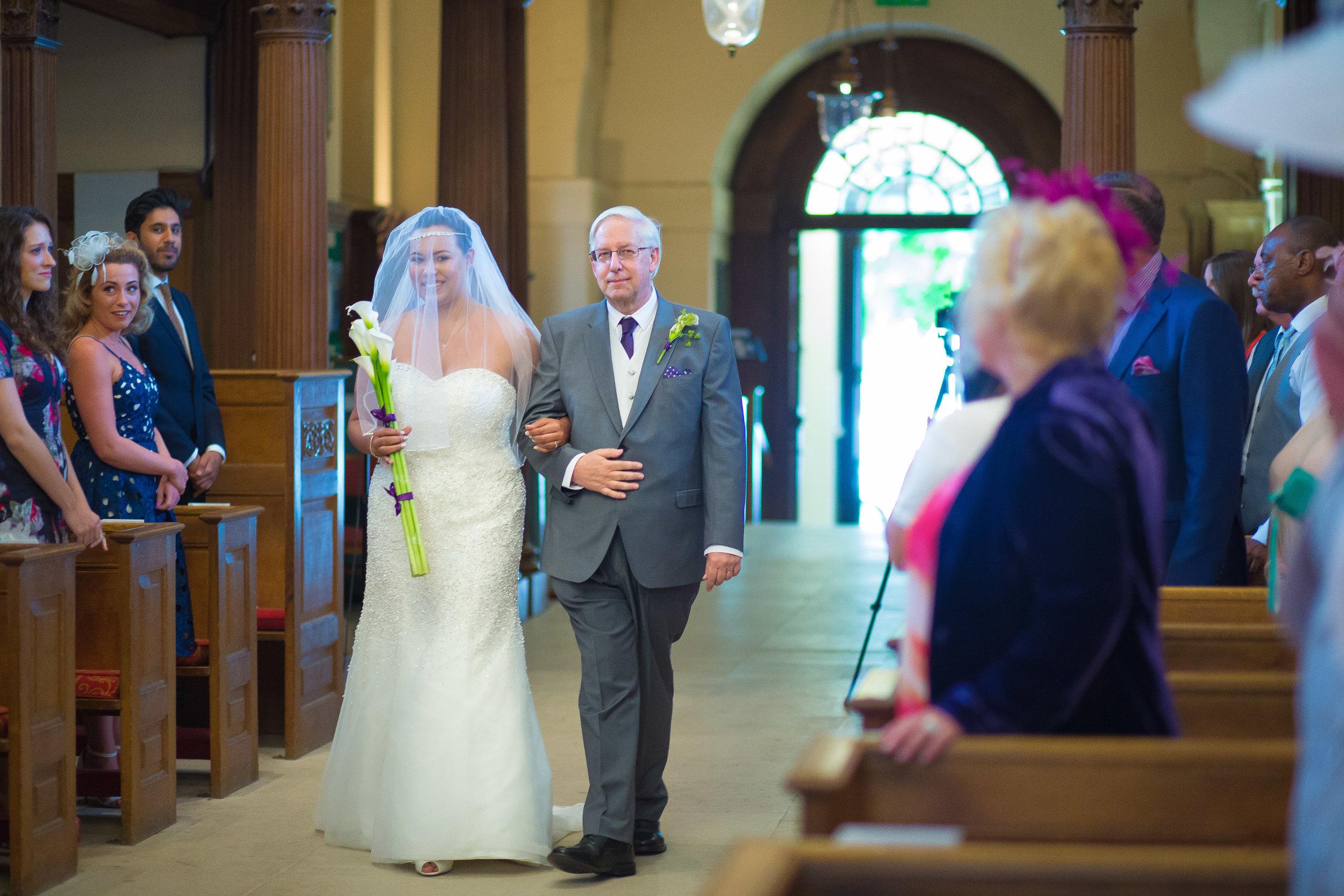 Saint-Alfege-Church-greenwich-wedding-bride-aisle-1