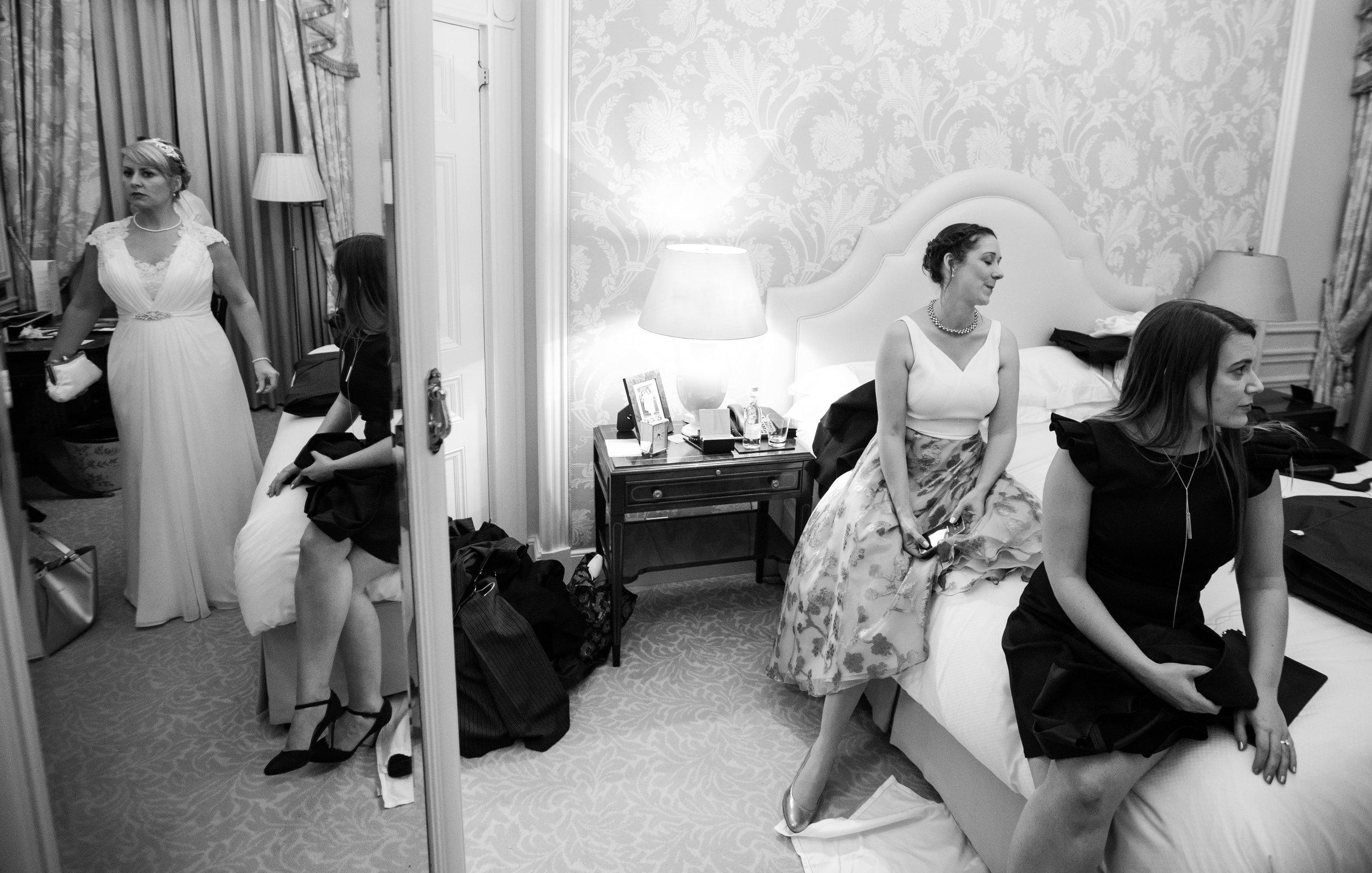 london-wedding-photography-wimbledon-wandsworth-town-hall-savoy-hotel-room-party-prep-chaos-93