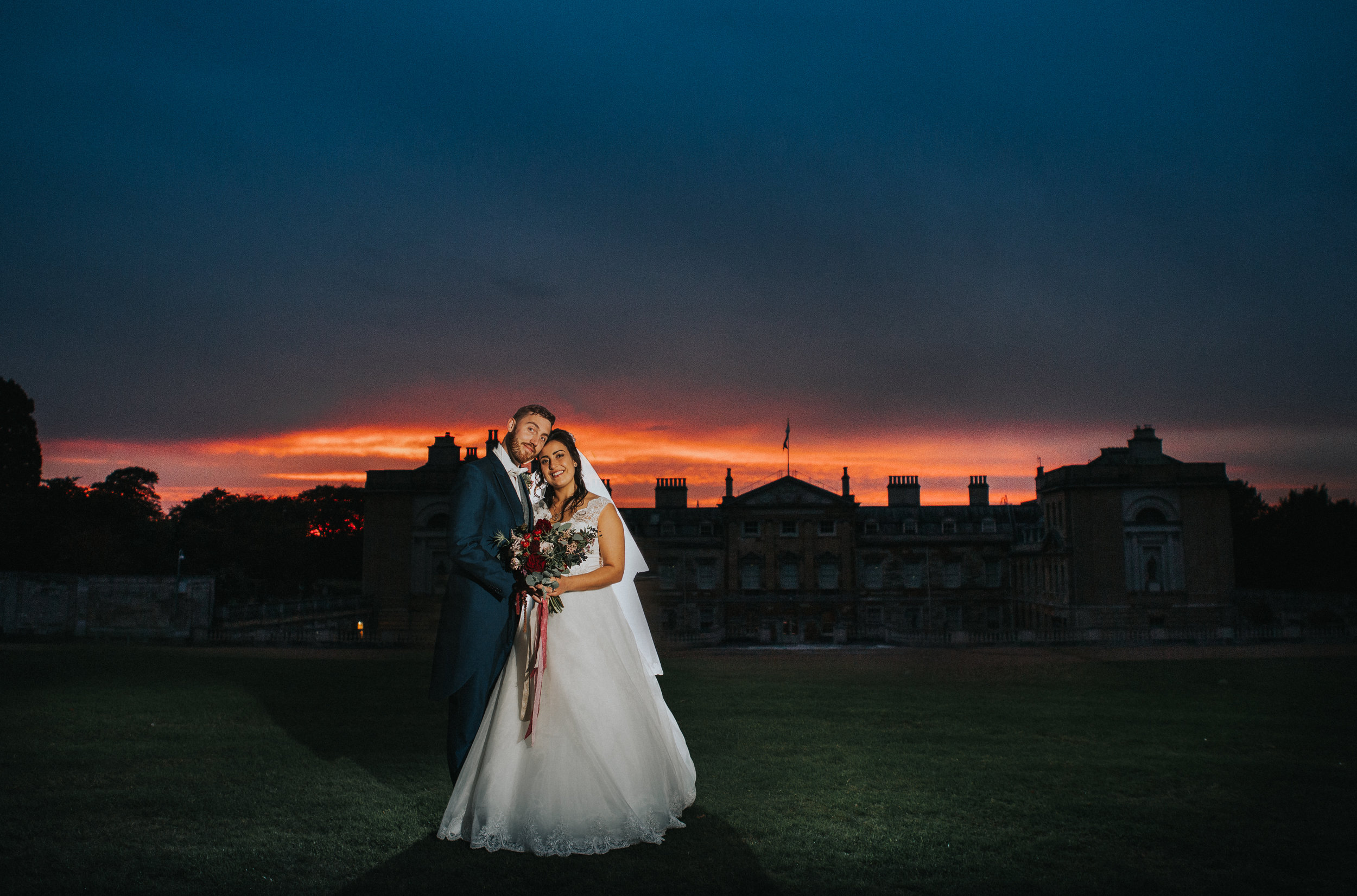 london-bedfordshire-uk-wedding-photography-woburn-sculpture-gallery-bridal-portrait-sunset-76