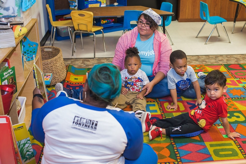 Students in Early Learning Center enjoy breakfast and lunch, Circle Time, play time, and centers.