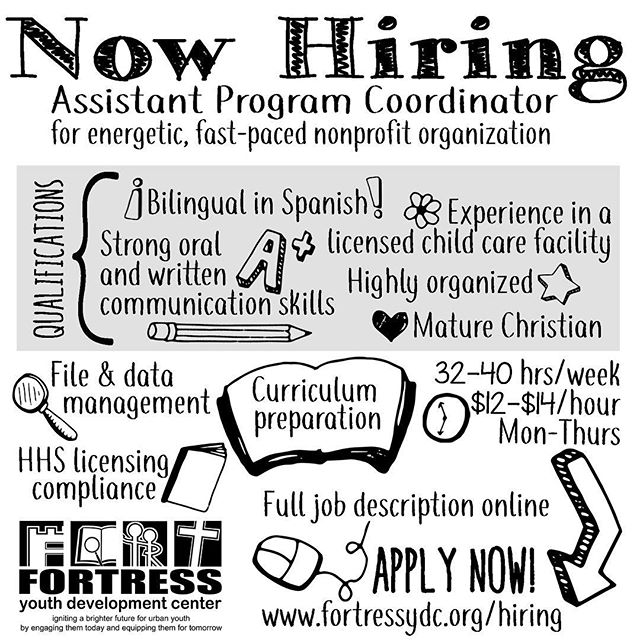 Have you always wanted to work for Fort Worth's best nonprofit? 😉 Now is your chance! We are accepting applications for our Assistant Program Coordinator position. Visit www.fortressydc.org/hiring for the full job description and application. . . . . . . #hiring #fortworthjobs #hiringfortworth #hiringftworth #jobsinfortworth #jobsinftworth #dfwjobs #dfwhiring #hiringindfw #jobsindfw #nonprofitjobs