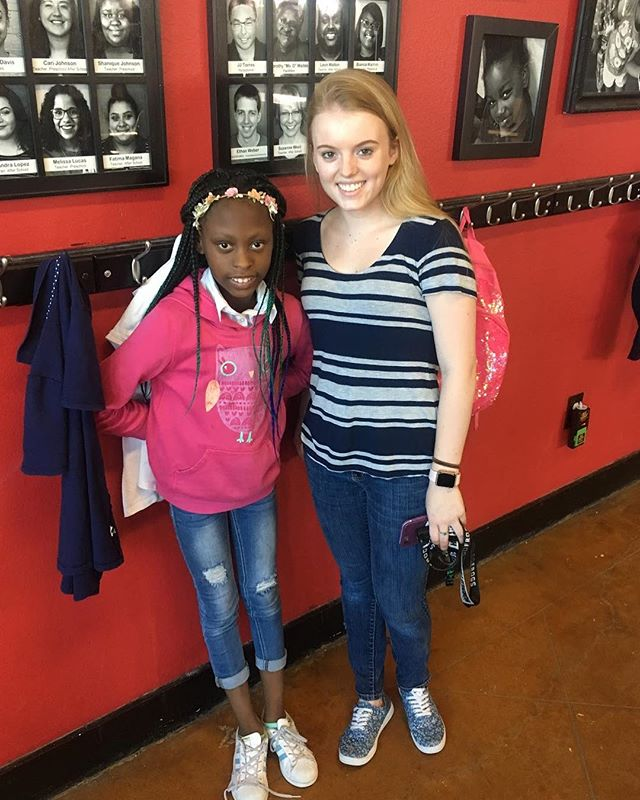 "January is National Mentoring Month! To celebrate, we are highlighting some of the awesome volunteers who devote an hour each week to mentor one of our kids.  Today's spotlight is on Lauren who mentors 3rd grader Lizzy. Lauren is in her second year at Fortress and loves the opportunity the program gives her to make a difference in a child's life. She has also enjoyed getting to connect with Lizzy's sisters who attend the After School program as well. ""The biggest thing I've learned is to have patience, patience, patience,"" Lauren says.  We love mentors like Lauren who give of their time and talents to benefit one of our kids. Do you have an hour a week to invest in a life? We recently enrolled 6 new After School kids that are looking for a mentor. If you are interested, check out the link in our bio and apply! #mentoring #nationalmentoringmonth"