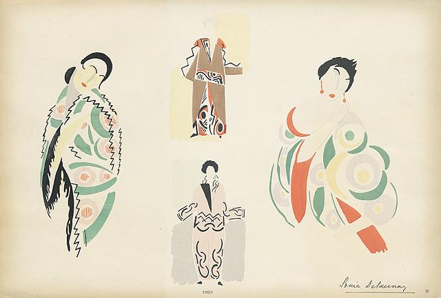 Sonia Delaunay fashion illustrations