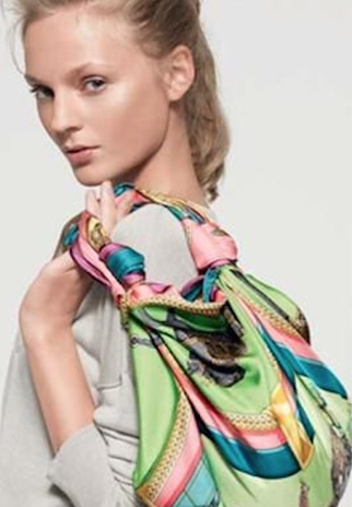 how to wear and knot a scarf - the scarf bag