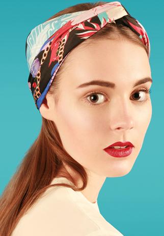 How to tie the turban knot - Cleo Ferin Mercury - Designer silk scarves