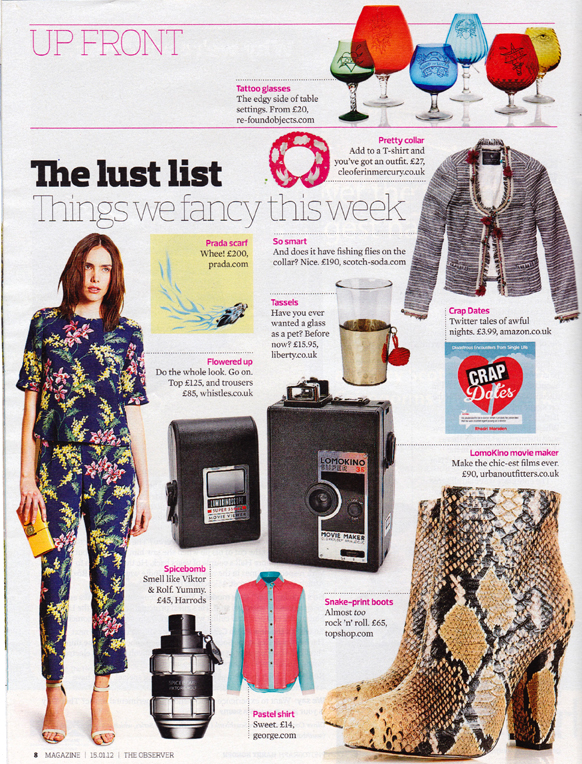 The Observer - Lust List - Designer Silk Collar