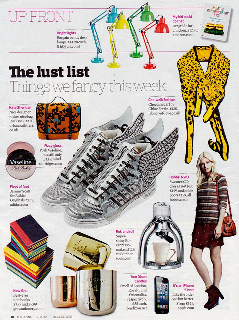 Designer Silk Jaguar Scarf as seen in The Observer