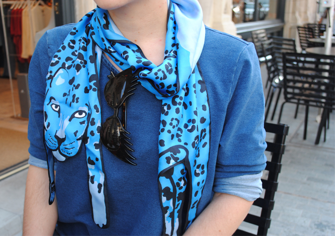 Designer silk Jaguar scarves as seen on The Women's Room Blog