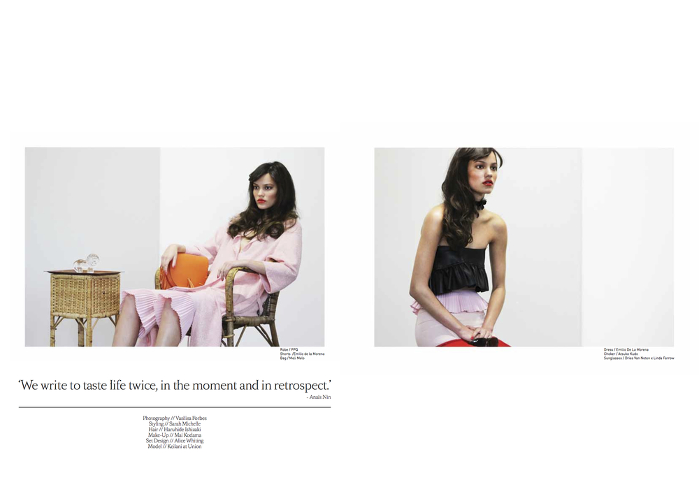 Designer silk scarves as style in Ligature Magazine