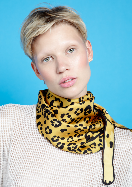 ladies luxury animal print silk scarf