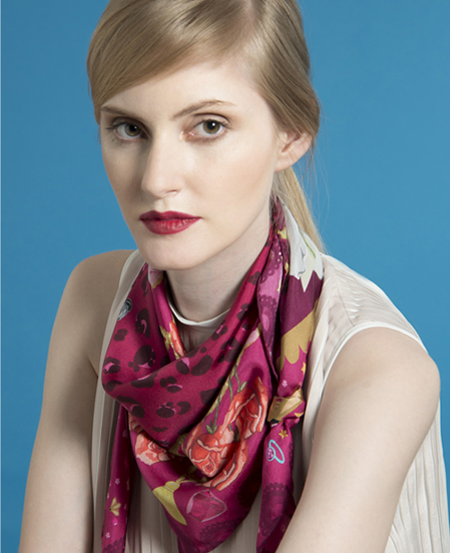 cleo-ferin-mercury-champagne-square-scarf-red.jpg