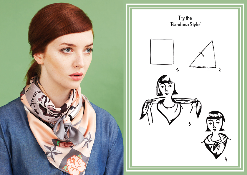 Bandana Style AW14 Circus Tiger Scarf - how to style a silk scarf - Square Silk Scarf.jpg