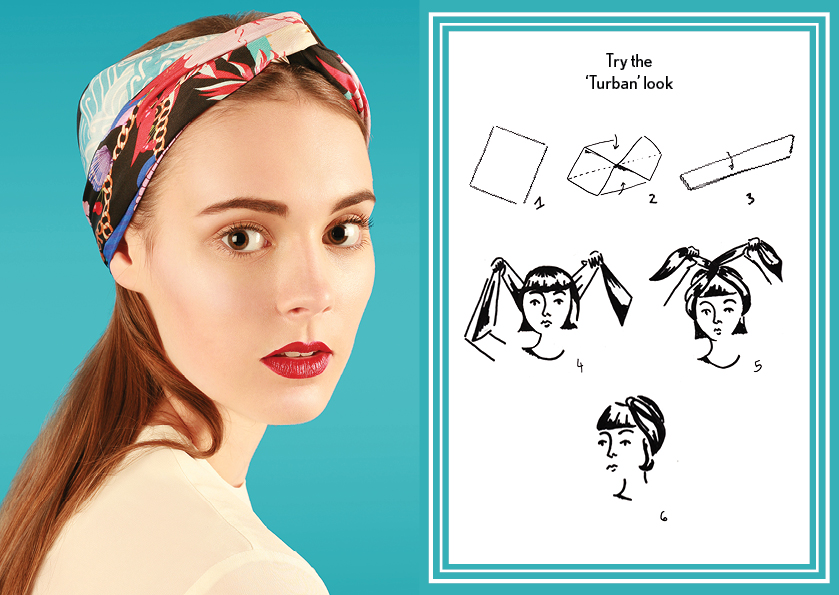 Turban look SS15 Nautical - how to wear a silk scarf - Square Silk Scarf.jpg