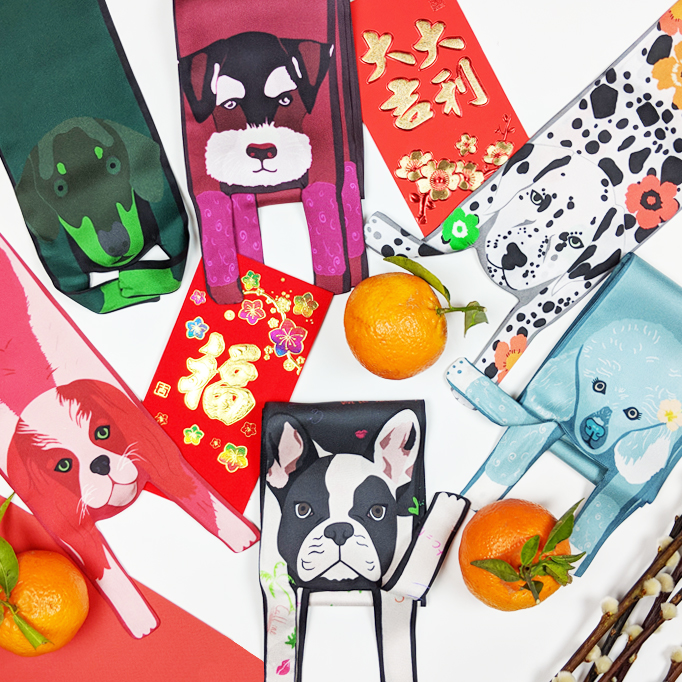 chinese new year free international delivery Cleo Ferin Mercury designer dog scarves.jpg