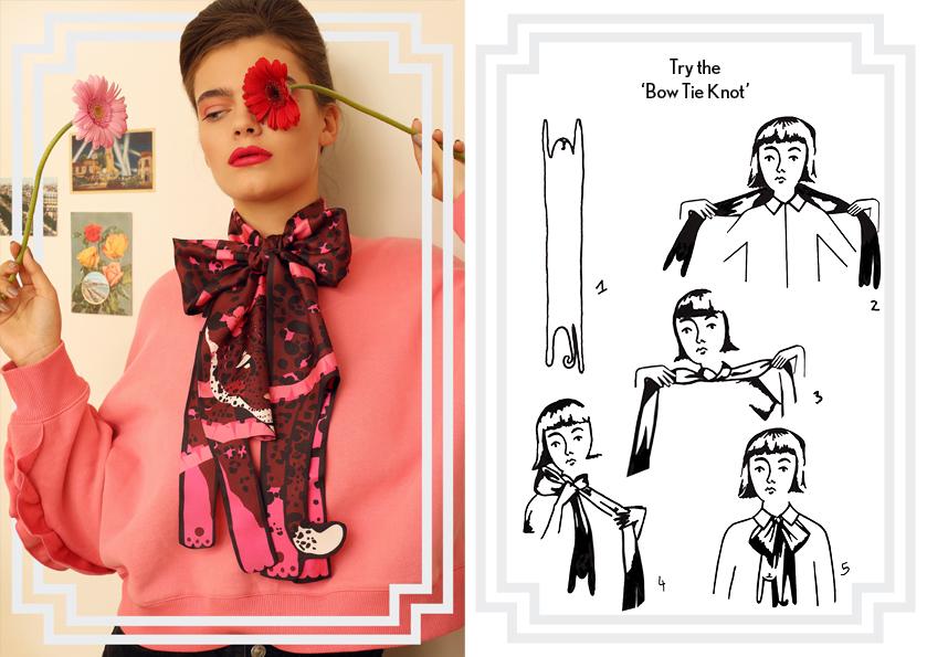 Bow Tie Knot SS18 Jaguar Print Silk Scarf - how to style a silk scarf - Animal Long Silk Scarf.jpg
