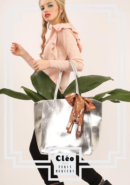 設計師豪華 動物真絲圍巾 - 动物真丝围巾 - Cleo Ferin Mercury 原版的 - 英国设计.jpg