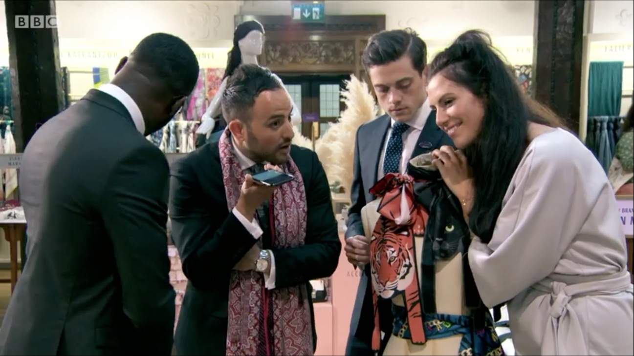 The Apprentice 2016 - Cleo Ferin Mercury - Designer Silk Animal Scarves - Team Titan - 動物圍巾.png
