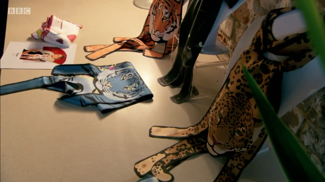 The Apprentice 2016 - Cleo Ferin Mercury - Designer Silk Animal Scarves 4 - 動物圍巾.png