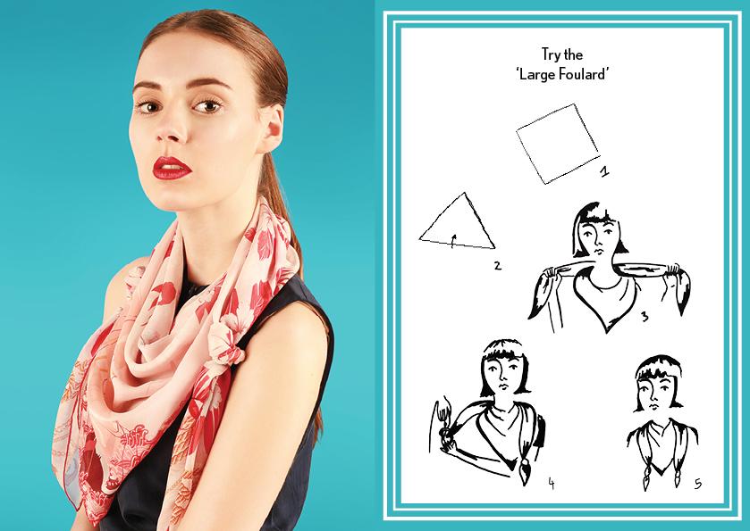 大号围巾 - 如何穿丝巾 - 方巾围巾 - 时尚围巾结 - 大围巾结 - 航海印花 - cleo ferin mercury - sunday scarf knot - 每日围巾结.jpg