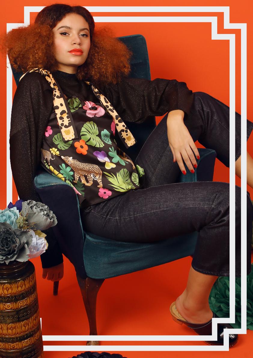 Floral Print Silk Tops - Floral Print Blouses