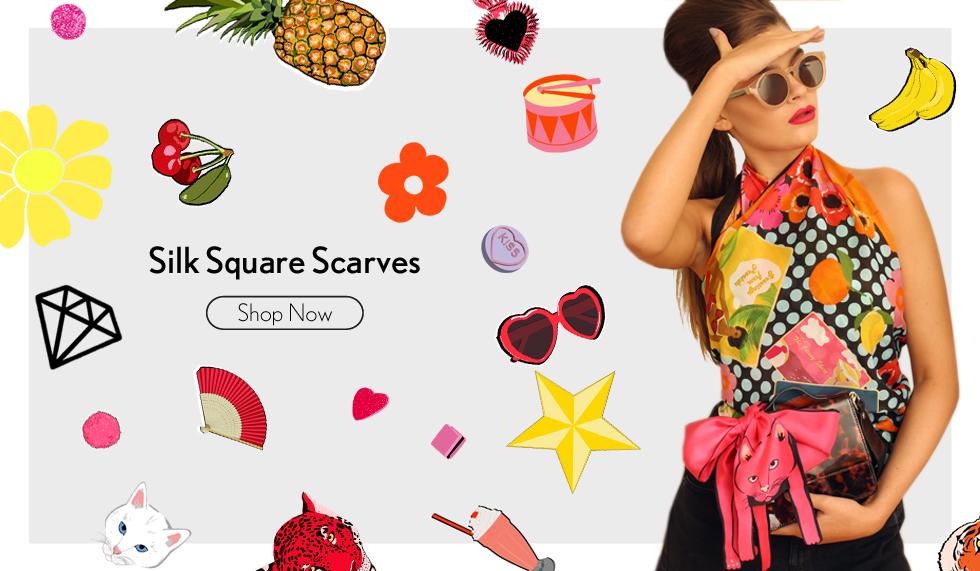 Cleo Ferin Mercury Designer Silk Scarves