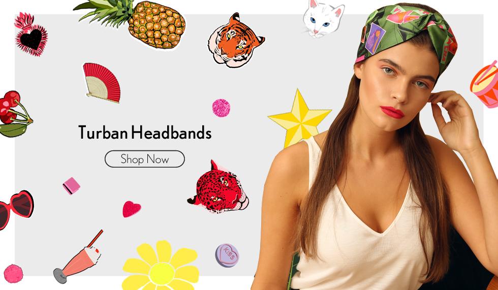 Cleo Ferin Mercury Designer Silk Turban Headbands