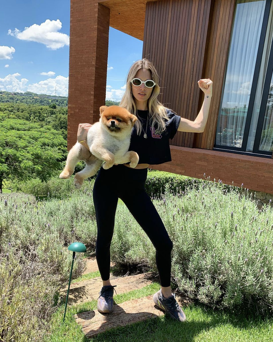 Maria Helena Bordon Meireles & Chuck Falsiane Pampered Pets and their Famous Owners.jpg