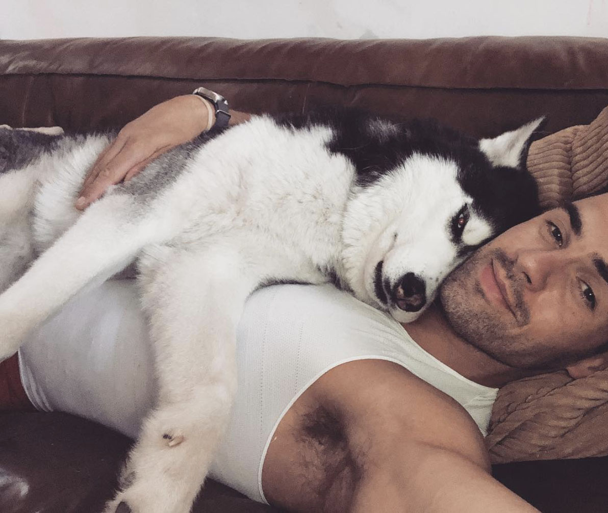Chad White & Batman Pampered Pets and their Famous Owners.jpg