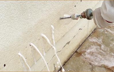Une des solutions personnalisée d'injection de résines en réponse à vos problèmes d'humidité et de salpêtre