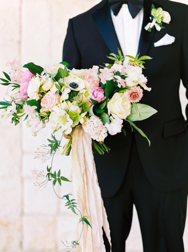 Pink and White Wedding Bouquet - Dallas Wedding Florist