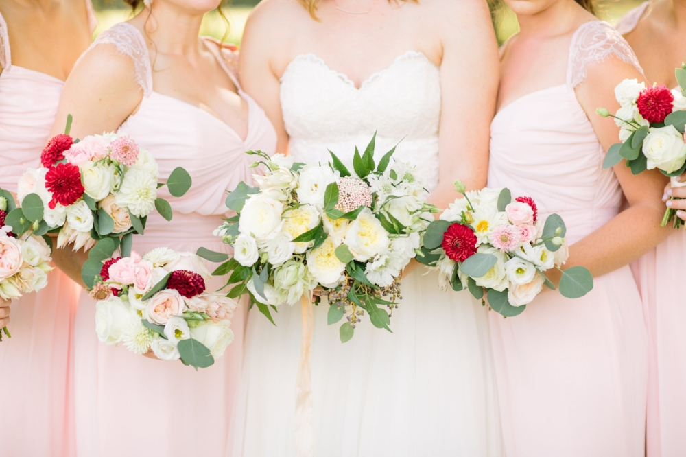 White and Blush Wedding - Wedding Florists in Dallas