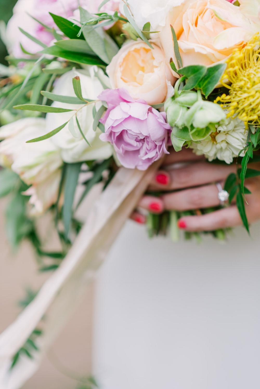 Lush Pastel Bridal Bouquet - Wedfully Yours