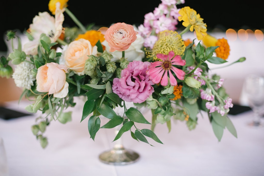 Garden Inspired Flower Centerpieces - Wedding Florists in Dallas