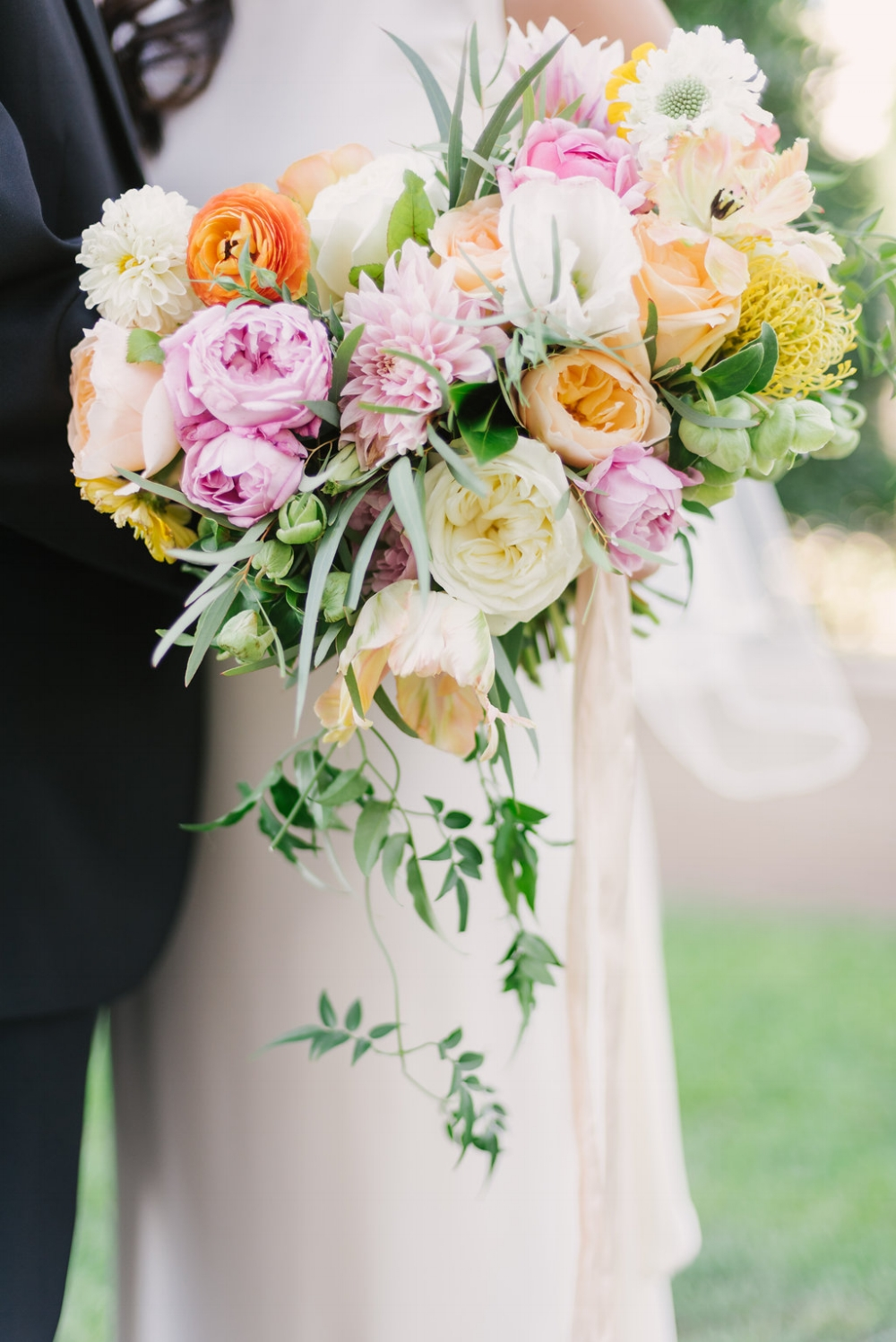 Garden-Inspired Bridal Bouquet - Wedding Florists in Dallas