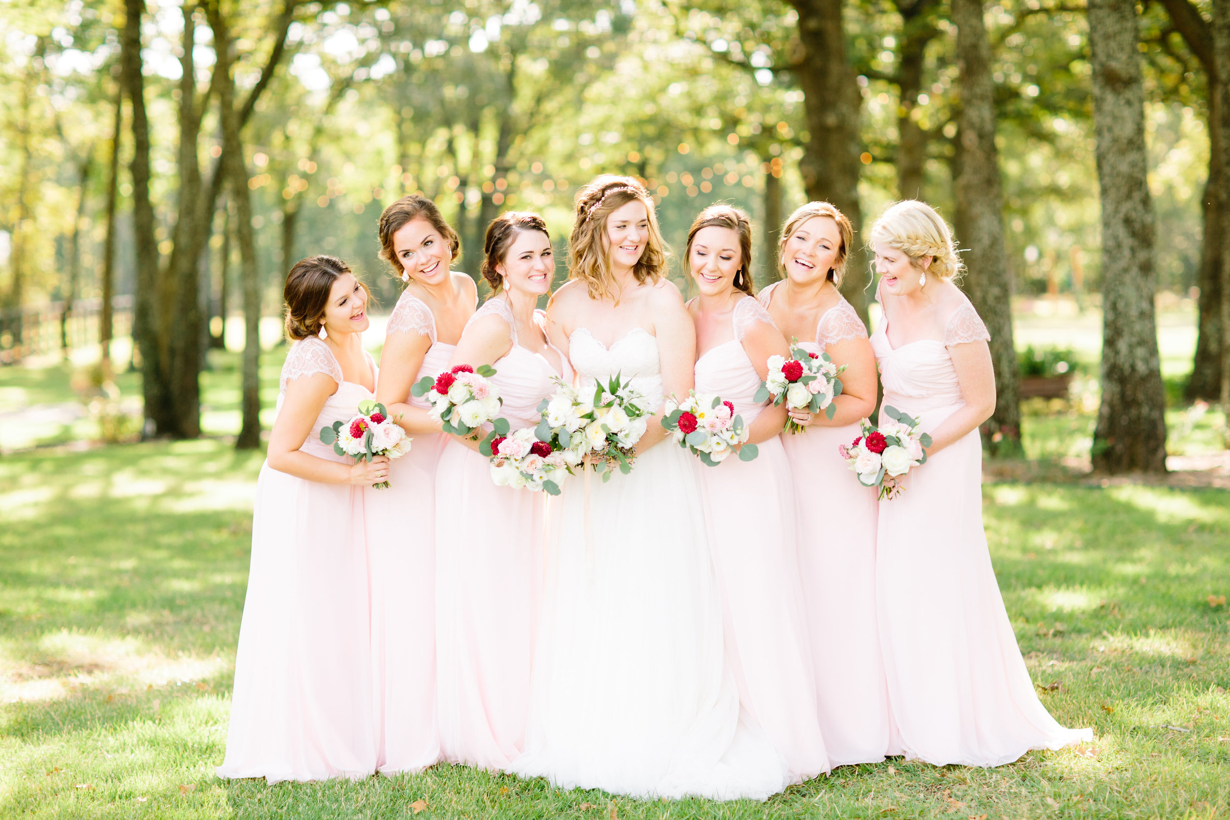 Blush Bridesmaid Dresses - Dallas Wedding Florist