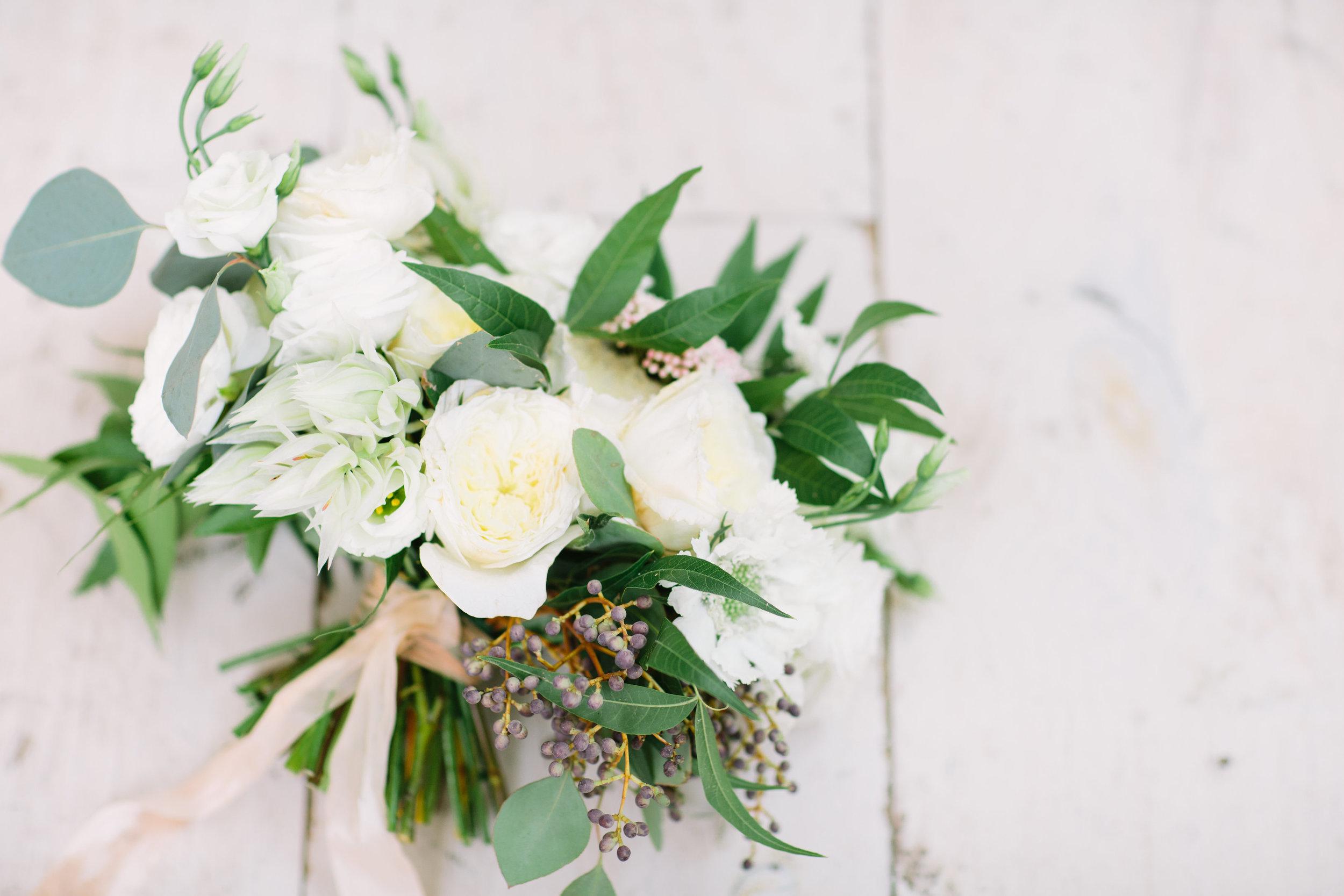 Organic White Bridal Bouquet - Wedding Flowers in Dallas