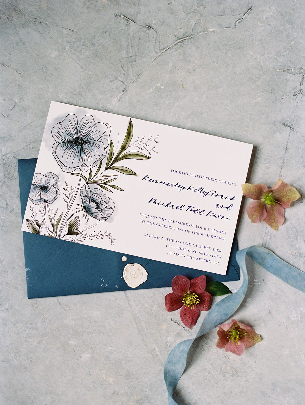 Modern Calligraphy Invitations - Wedding planner in Dallas