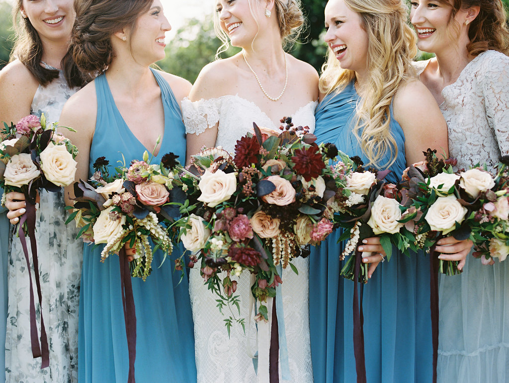 Blue and Burgundy Wedding Ideas - WAterfront Wedding Texas