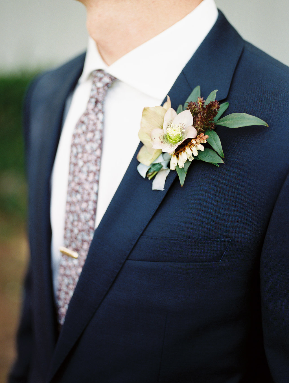 Hellebore Boutonniere - Lubbock Wedding Flowers