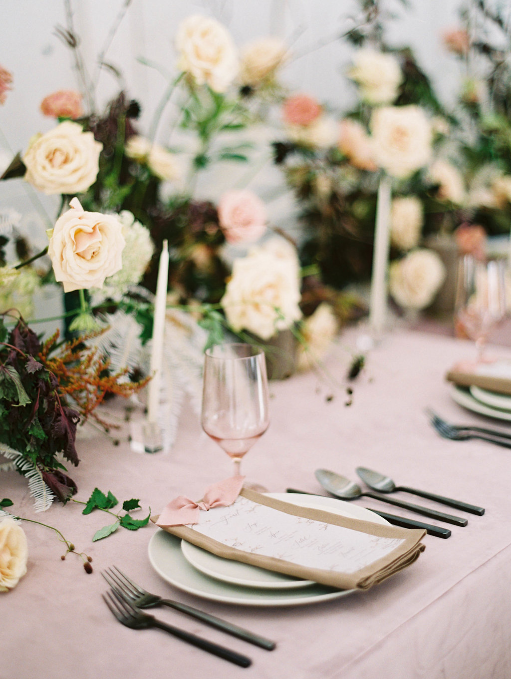 Moody Blush Wedding Ideas - Wedfully Yours