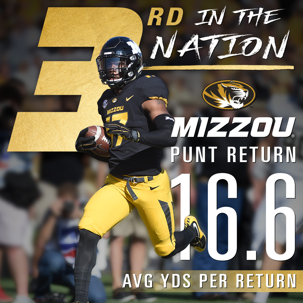 Mizzou: 3rd in Punt Return Avg.