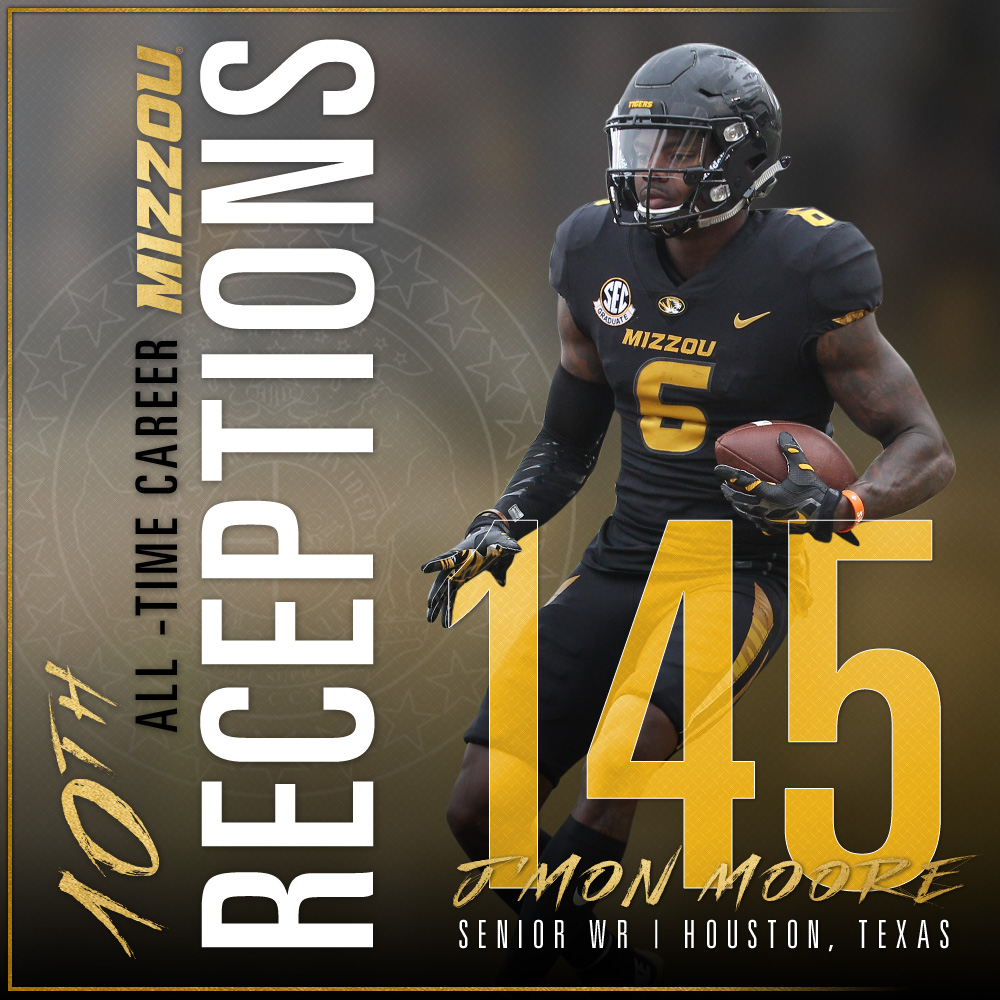 Moore: 10th in All-Time Career Receptions