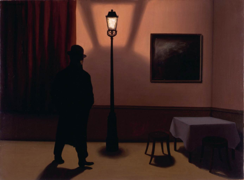 Rene Magritte, The nocturnal 1928