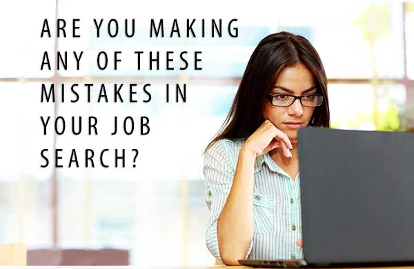 Job Search Mistakes Resume Writing