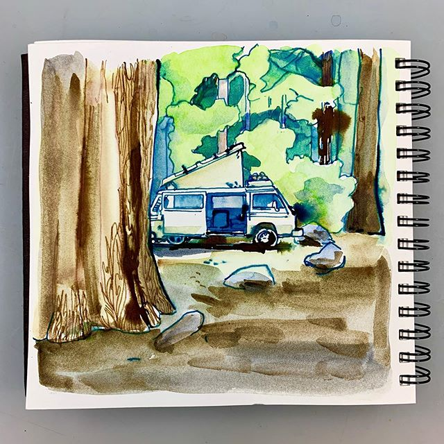 Much like my van, this drawing looks best at 15-20 feet away.  #inktober2019 #inktober #15footer