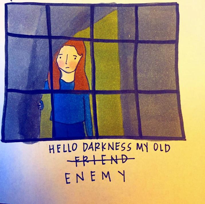 Drawing by Abby Clark - @fourlittlebeans on Instagram