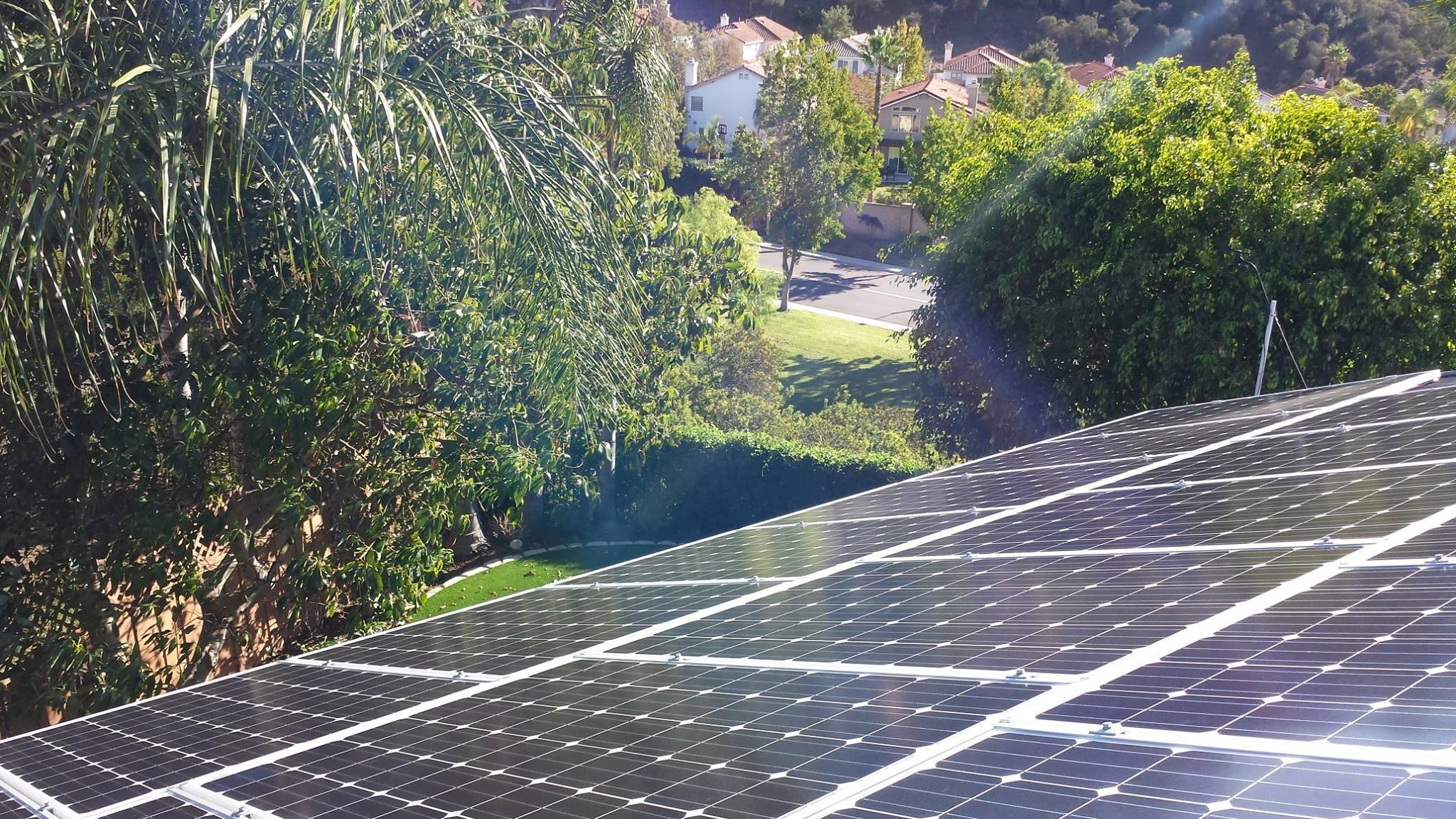 Residential Grid-tie Solar Electric Installation - by Damian Gutierrez Sept 2014, San Diego, CA