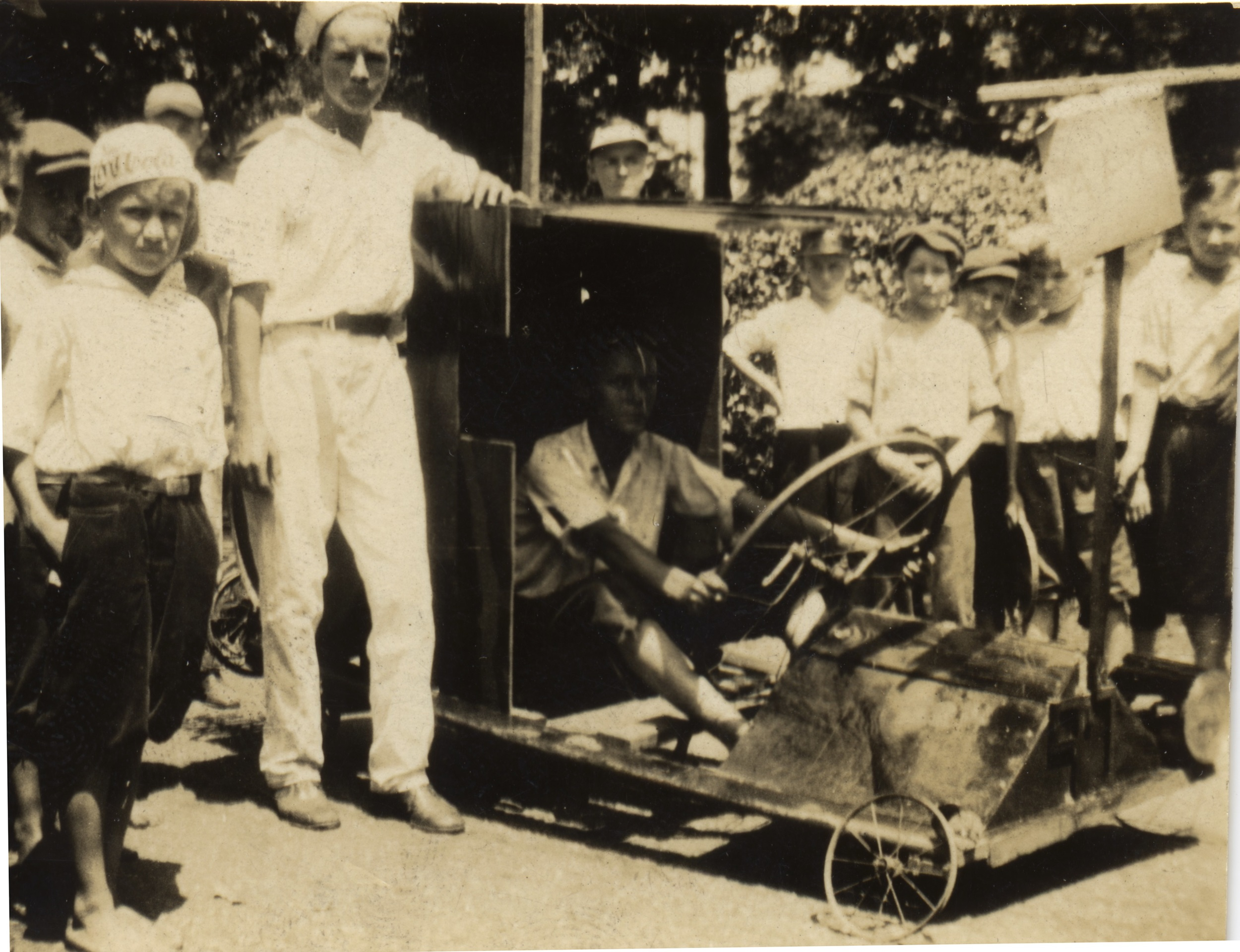 Soap Box Derby Car Race ca. 1930
